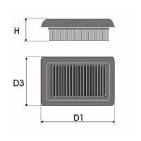 Sportovní filtr Green MERCEDES C CLASSE (W203) 320 3,2L i V6 18V (W203) výkon 160kW (218hp) typ motoru M 112 946 rok výroby 00-