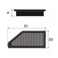 Sportovní filtr Green MERCEDES CLK (C 209) 270 CD i (C209) výkon 125kW (170 hp) rok výroby 02-